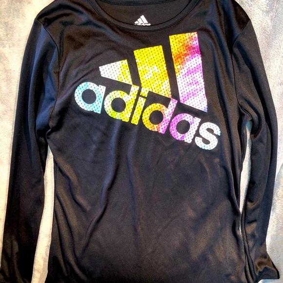 NWOT Girls Large (14) Adidas Climalite LS TShirt